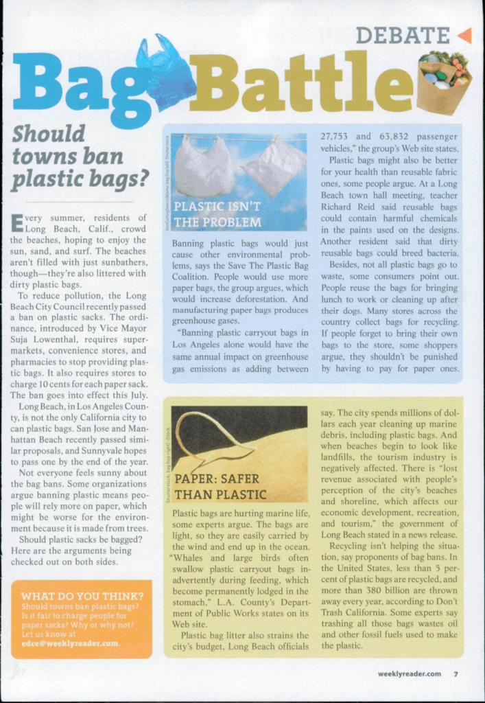 DEBATE Should towns ban plastic bags?