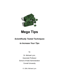 Mega Tips - The Original Tipping Page