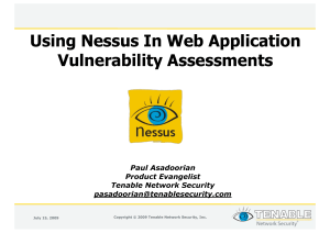 TENABLE NETWORK SECURITY, INC  NESSUS CLOUD