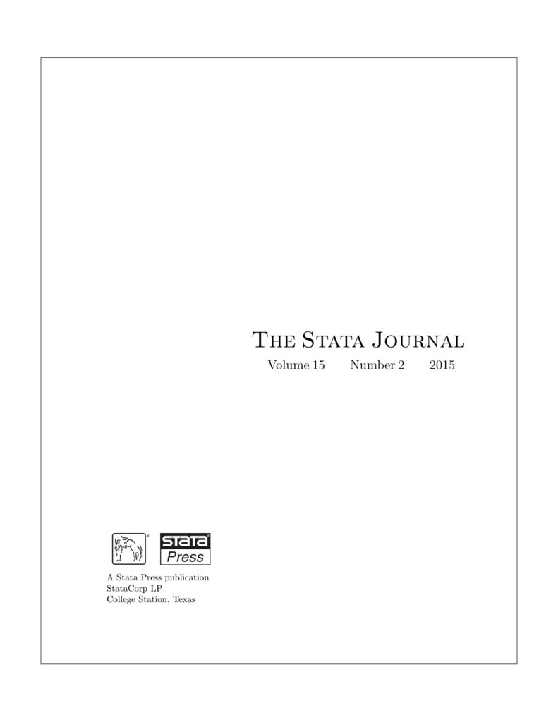 The Stata Journal - Department of Economics