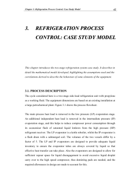 Chapter 3: Refrigeration Process Control
