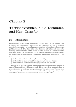 Chapter 2 Thermodynamics, Fluid Dynamics, and Heat Transfer