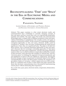 reconceptualising 'time' and 'space' in the era of