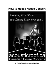 How to Host a House Concert
