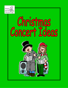 Ideas For The Christmas Concert