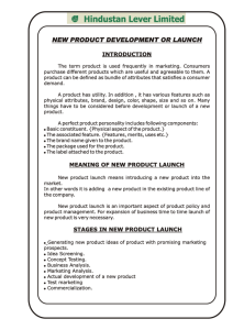 new product development or launch