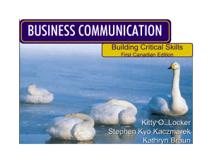 business communication - McGraw-Hill