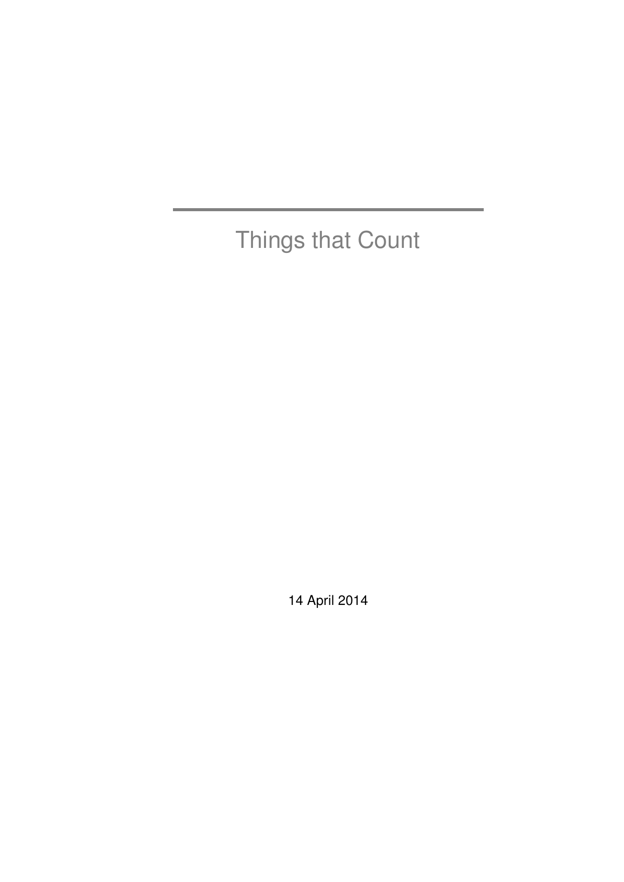 Things that Count