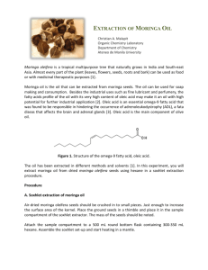 EXTRACTION OF MORINGA OIL