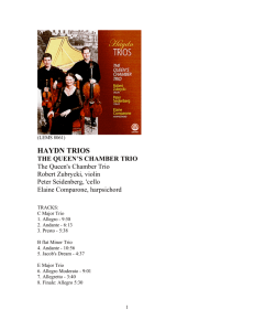 haydn trios the queen's chamber trio
