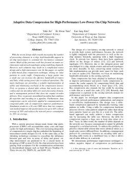 Adaptive Data Compression for High-Performance Low