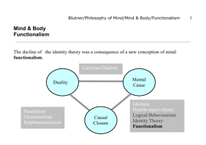 Mind & Body Functionalism