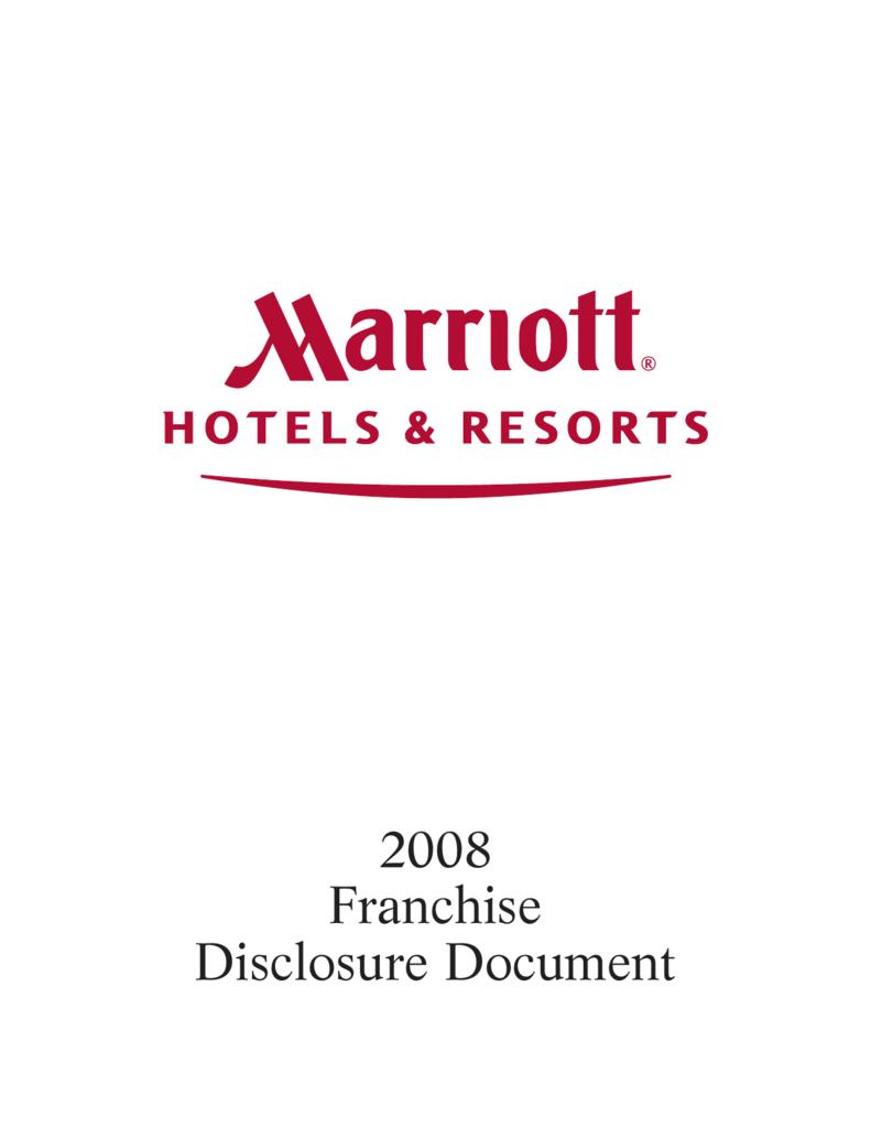 Franchise Disclosure Document Marriott