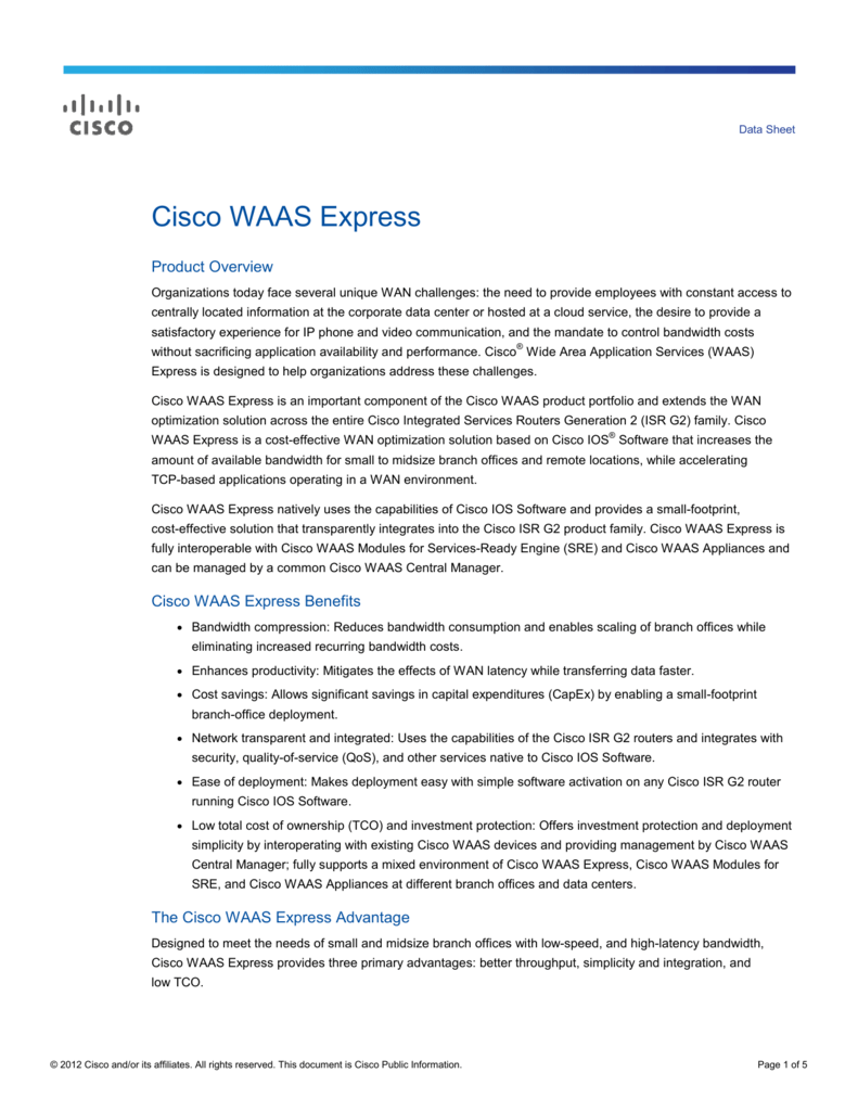 Cisco WAAS Express