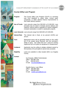 County Utility Loan Program Flyer