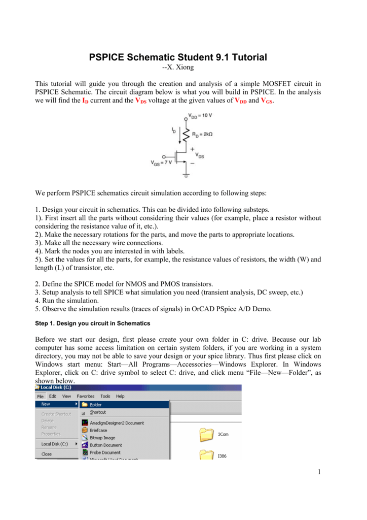 PE Schematic Student 9.1 Tutorial on