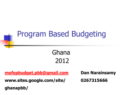 Advantages of Program Budgets