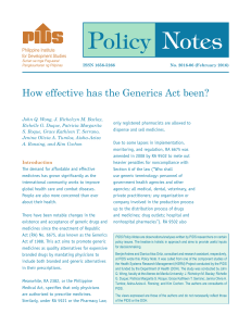 How effective has the Generics Act been?