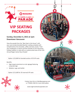 vip seating packages - Rogers Santa Claus Parade