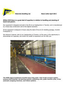 Materials Handling Ltd News Letter April 2011 Within SCM there is a