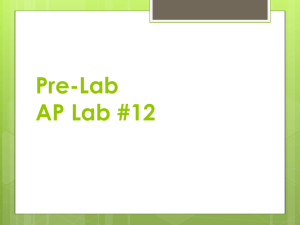 Pre-Lab AP Lab #12 - Grayslake North High School