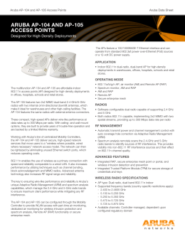 aruba ap-104 and ap-105 access points