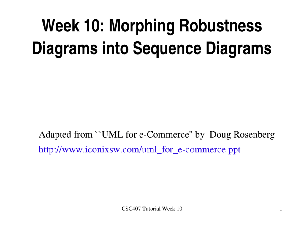 Week 10 Morphing Robustness Diagrams Into Sequence Diagrams