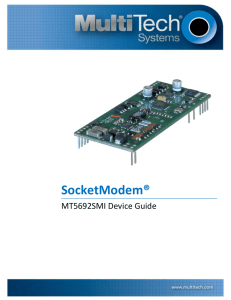 SocketModem MT5692SMI Device Guide - Multi