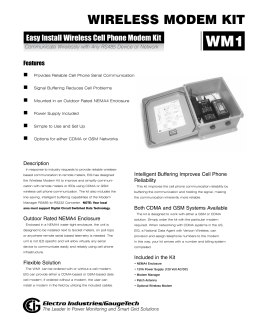 wireless modem kit - Electro Industries