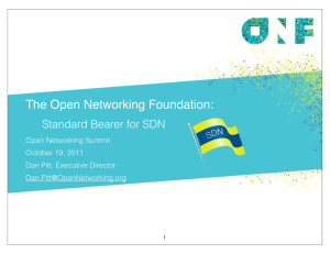 ONF Summit - Open Networking Summit