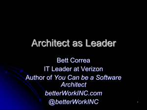 Architect as Leader