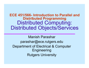 Distributed Objects - ECE