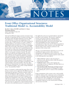 Front Office Organizational Structures: Traditional Model vs