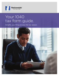 Your 1040 tax form guide.