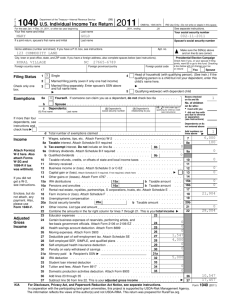 Form 1040 - Rural Tax Education