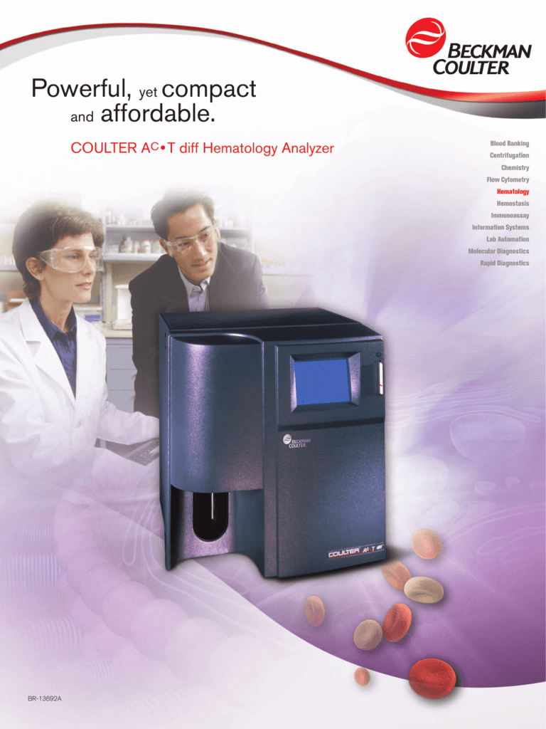 BR-13692A: COULTER® Ac·T™ diff Hematology Analyzer