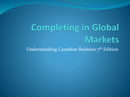 Completing in Global Markets