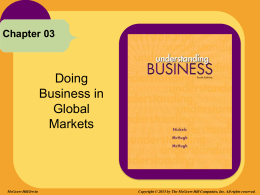 Doing Business in Global Markets