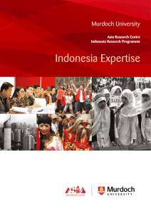Indonesia Expertise - Murdoch University
