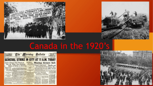Canada in the 1920's