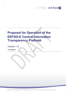 Proposal for Operation of the Central Transparency