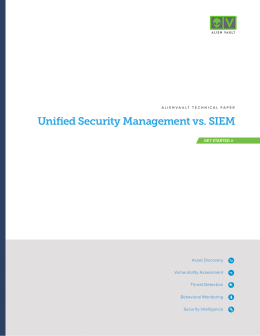 Unified Security Management vs. SIEM