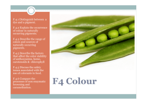 F4 Colour - Chemical Paradigms