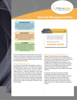 Network Management Plan - Overview