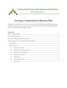 Creating a Comprehensive Business Plan