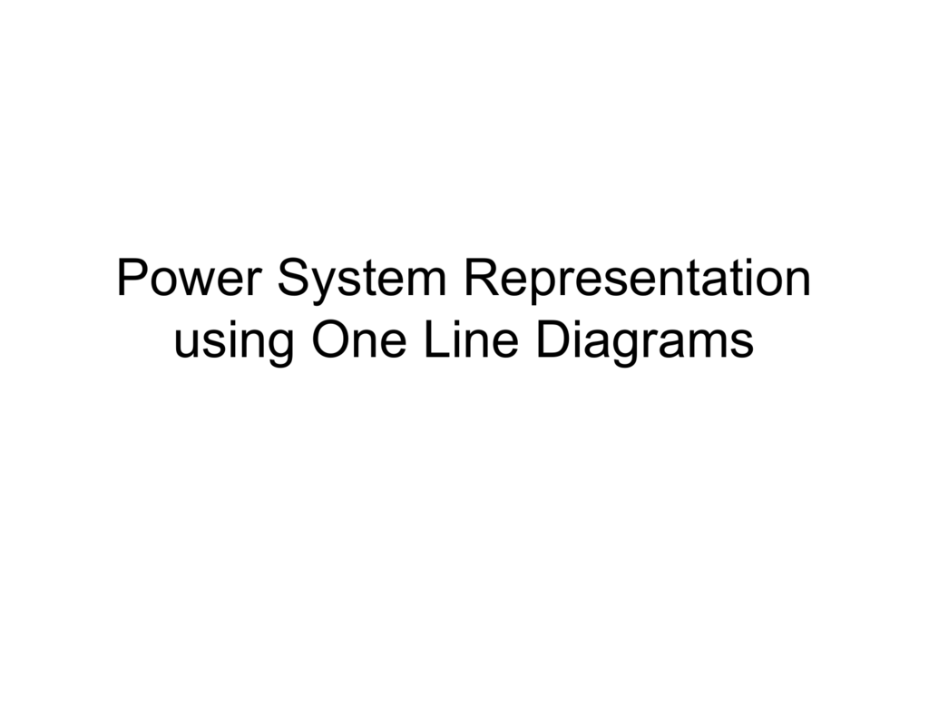 power system representation using one line diagrams