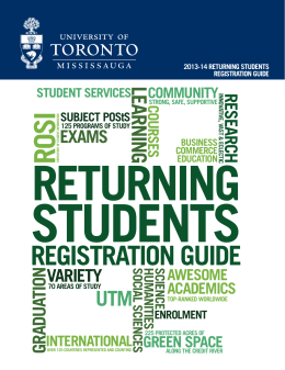 registration guide - University of Toronto Mississauga