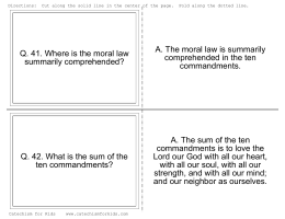 Free Flash Cards - Catechism for Kids
