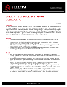UNIVERSITY OF PHOENIX STADIUM GLENDALE, AZ