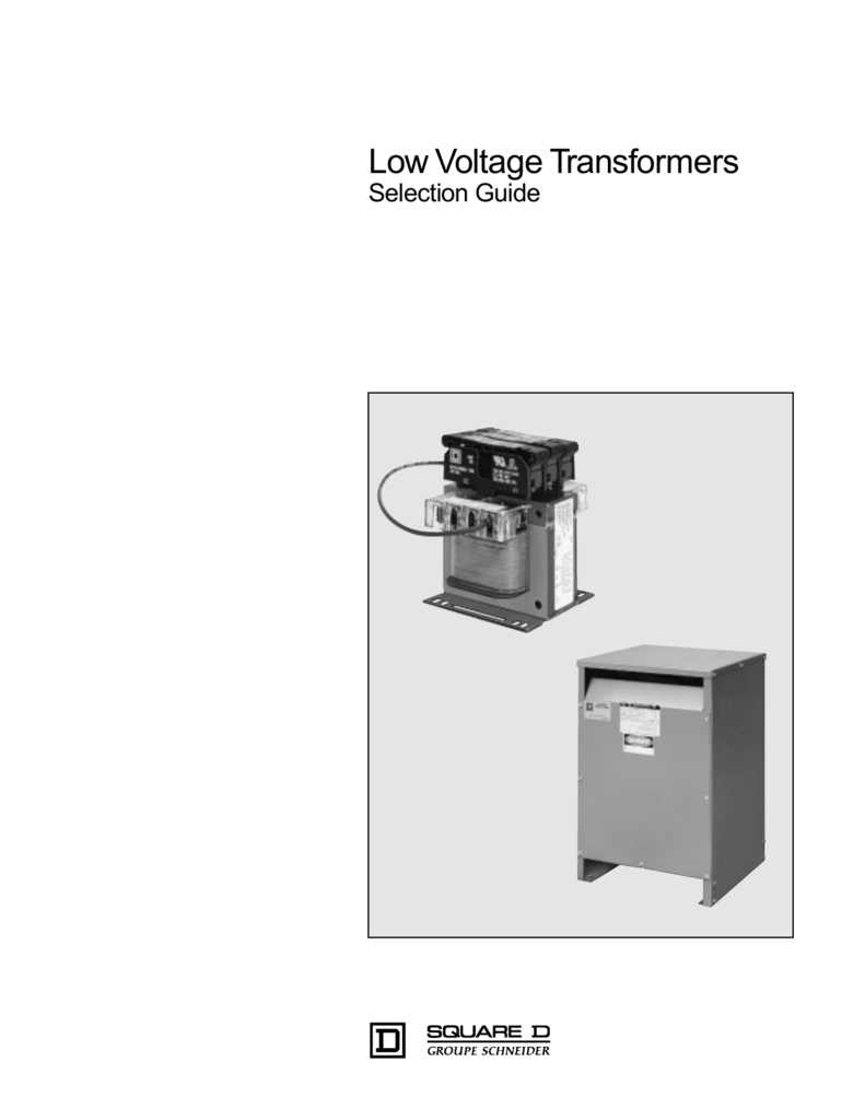 Low Voltage Transformers Selection Guide on